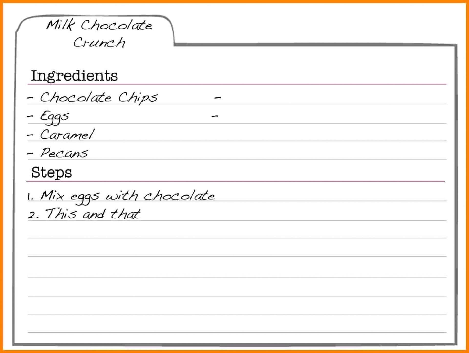 001 Download Recipe Card Template For Word Unique Ideas 4X6 In Microsoft Word Recipe Card Template