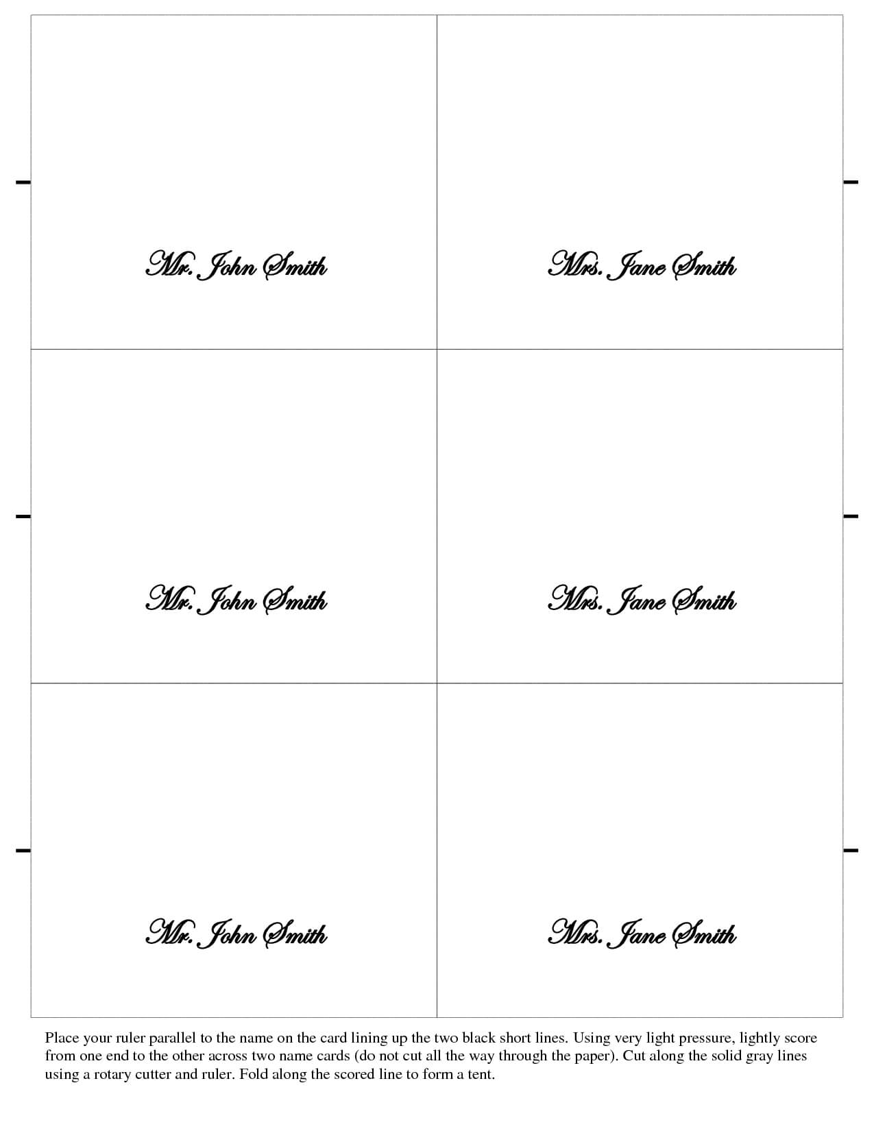 003 Free Place Card Template Ideas Table Mwd108673 Vert Within Free Place Card Templates 6 Per Page