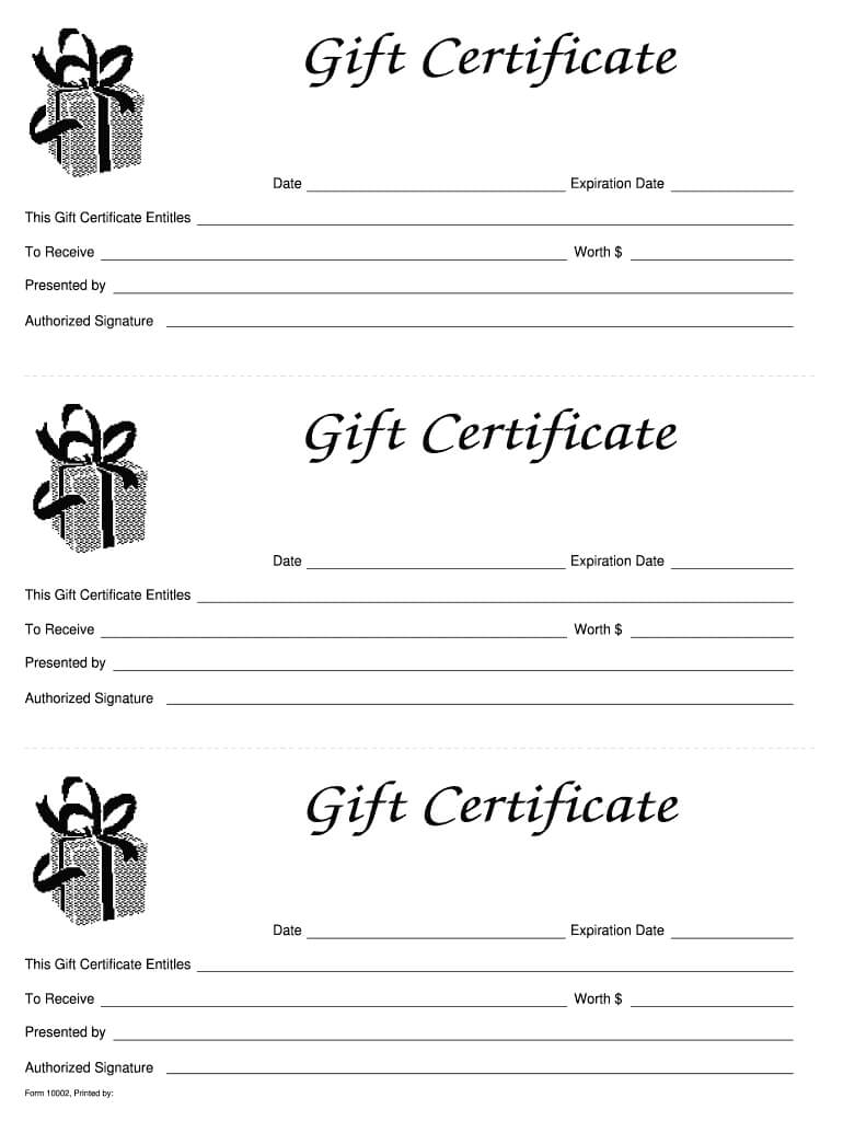 003 Template Ideas Blank Gift Certificate Astounding For Black And White Gift Certificate Template Free