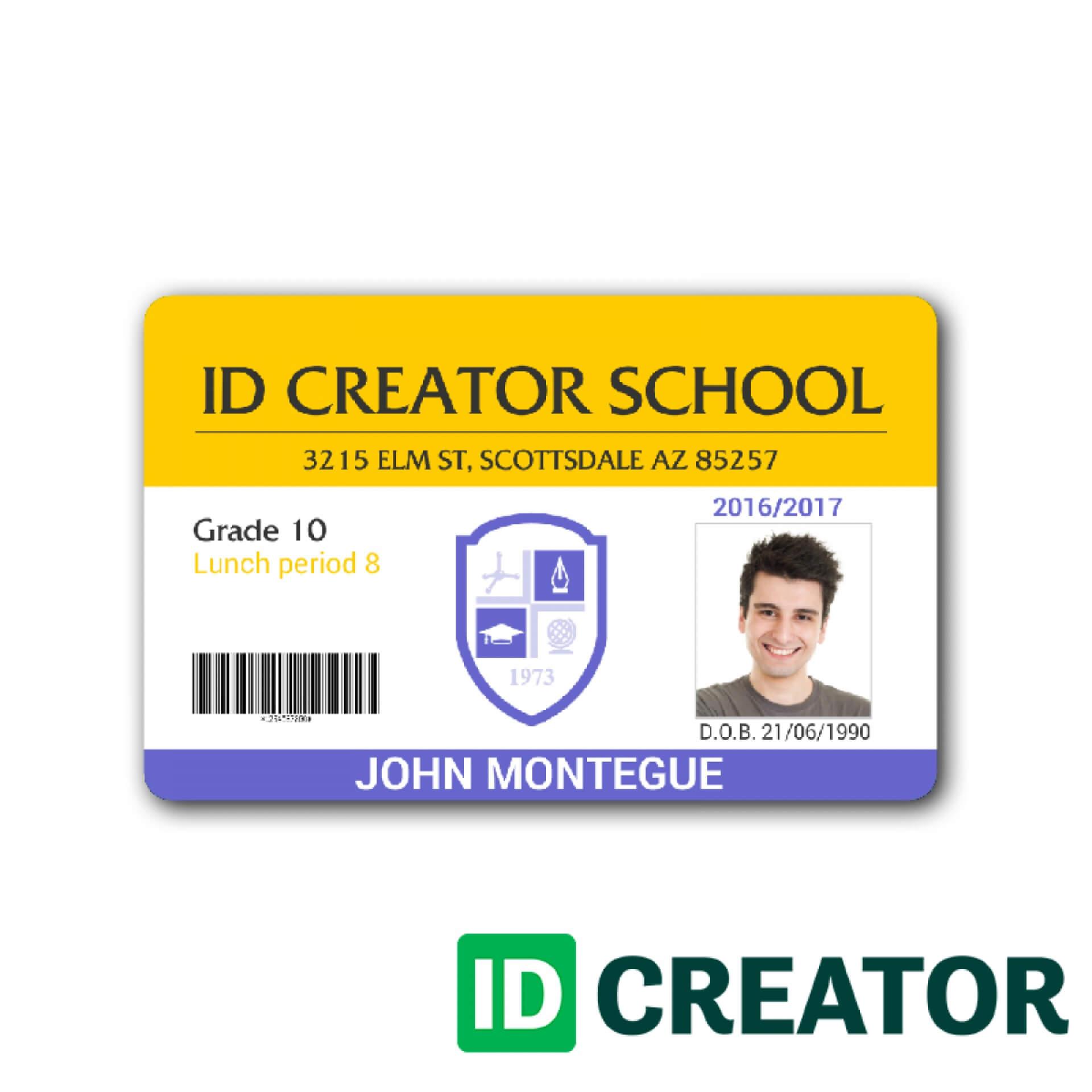 010 Template Ideas Colorful Id Card Design Teacher Inside Teacher Id Card Template