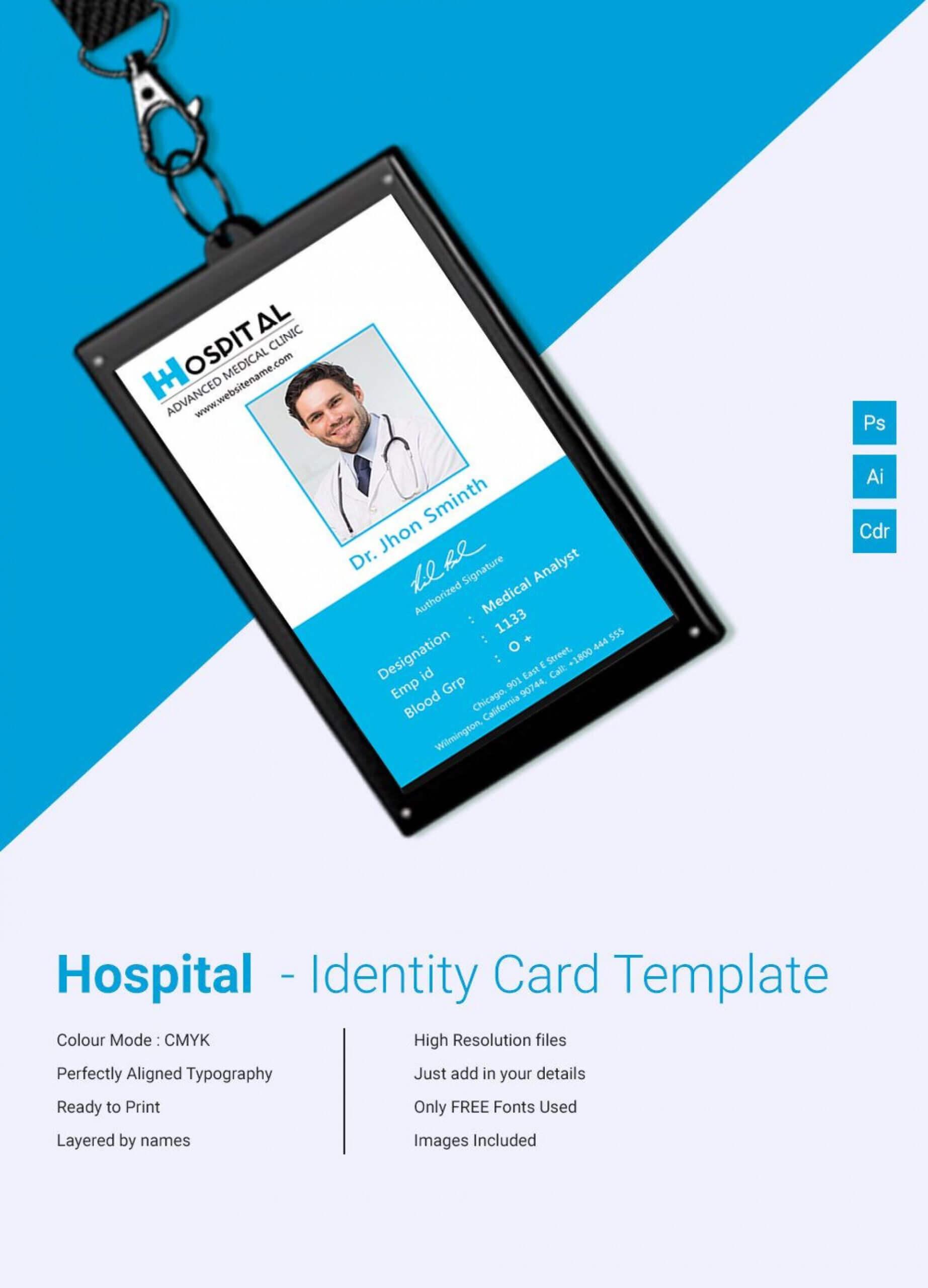 019 Horizontalvertical Id Card Design Teacher Photoshop In Teacher Id Card Template