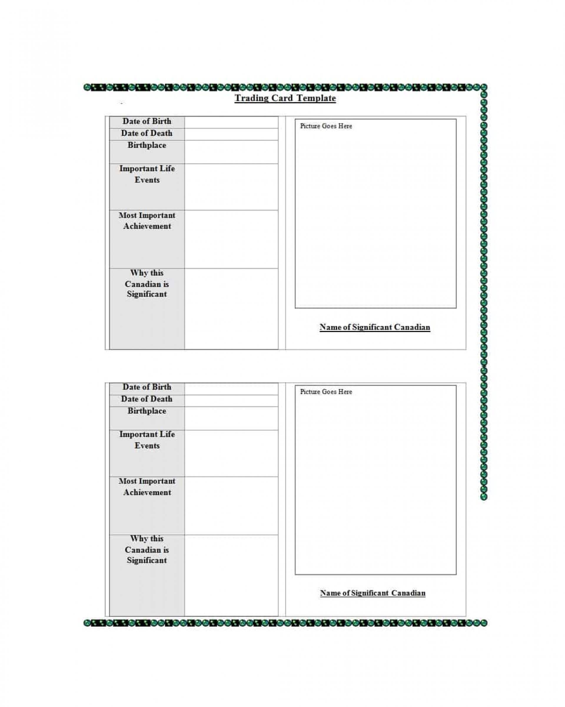 024 Baseball Trading Card Template Free Download Ideas In Free Trading Card Template Download