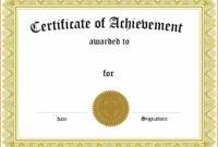 029 Generic Certificate Template Martial Arts Templates throughout Generic Certificate Template