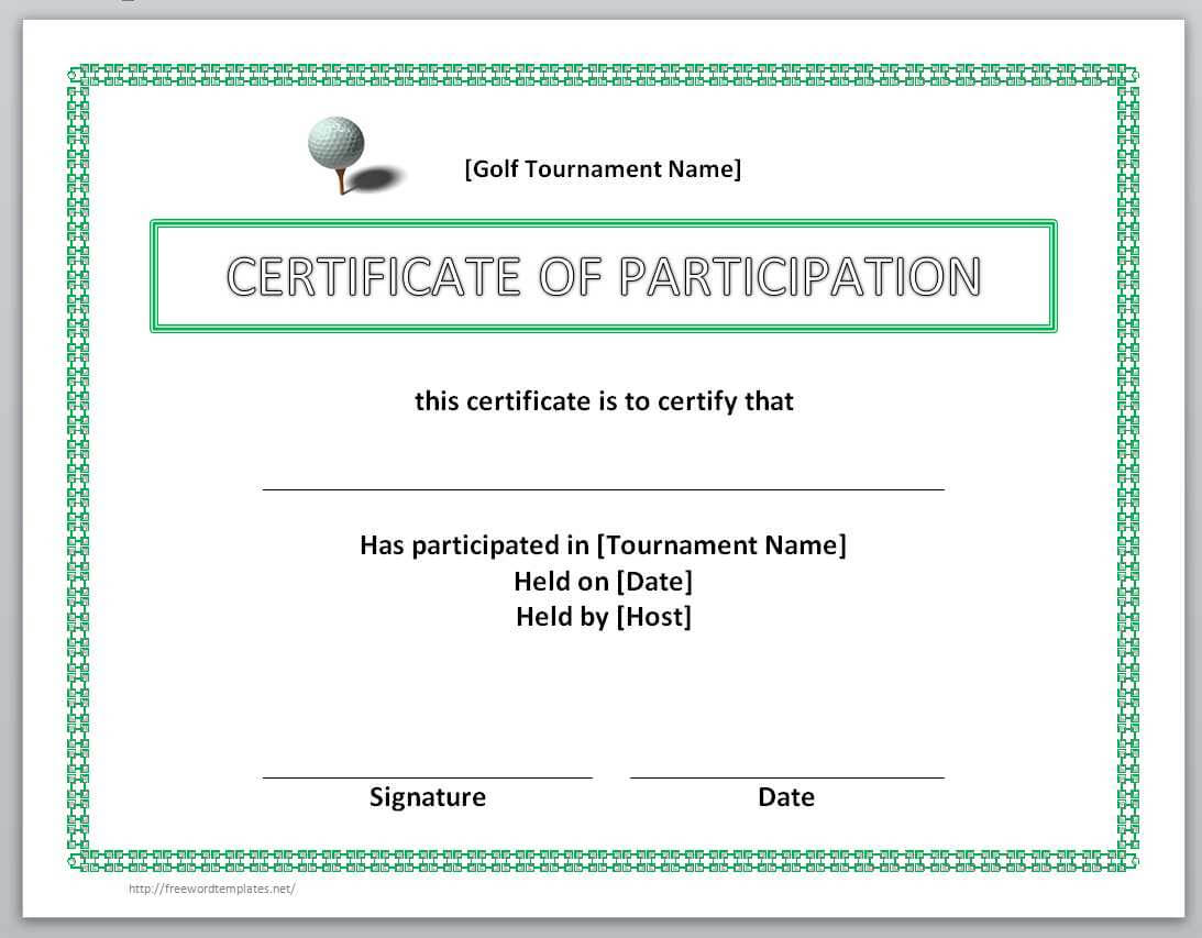 13 Free Certificate Templates For Word » Officetemplate In Golf Certificate Templates For Word