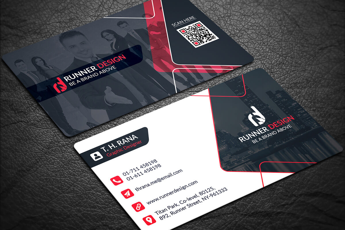 200 Free Business Cards Psd Templates - Creativetacos Intended For Visiting Card Template Psd Free Download