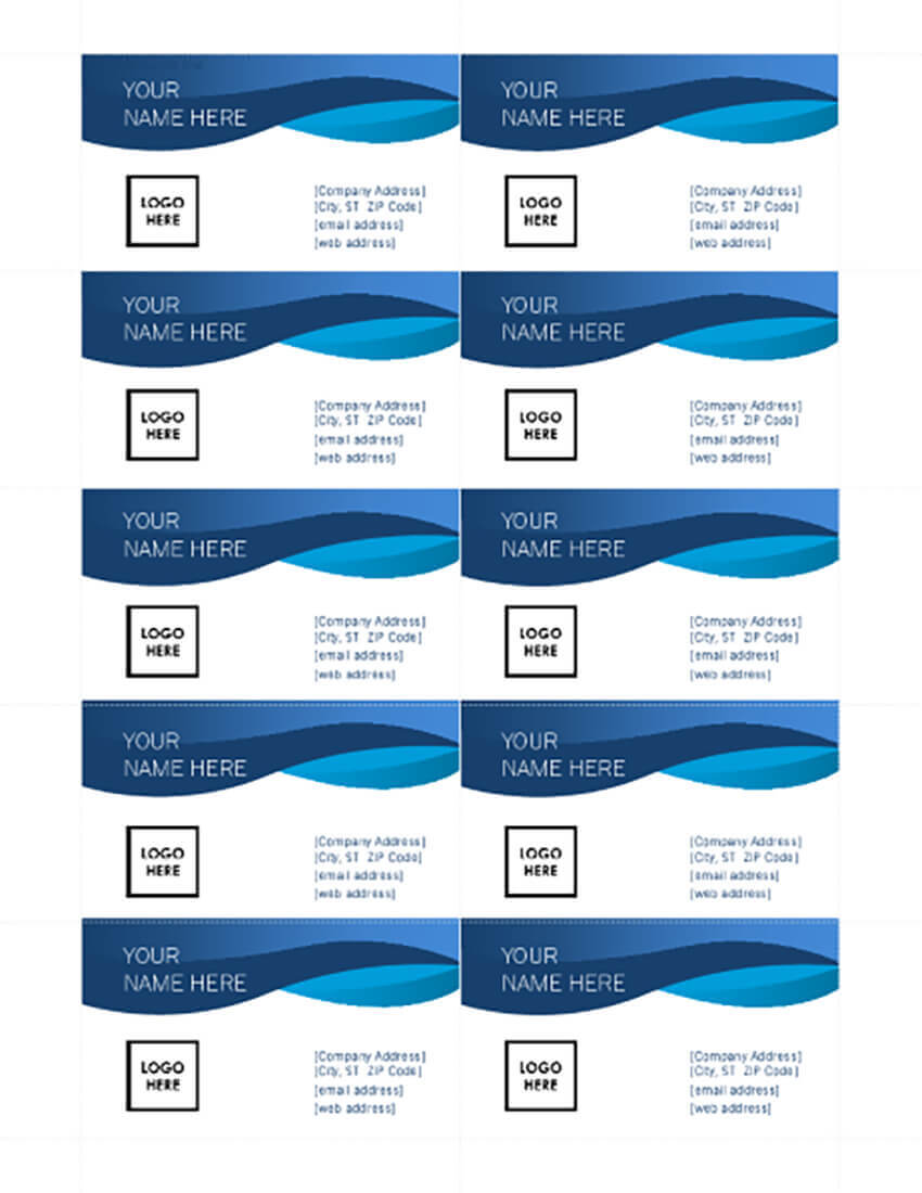 25+ Free Microsoft Word Business Card Templates (Printable Pertaining To Plain Business Card Template Microsoft Word