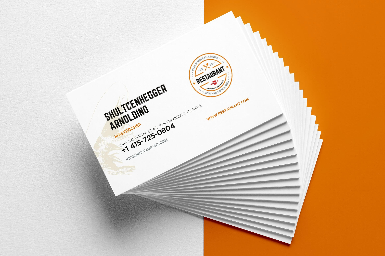 29+ Creative Restaurant Business Card Templates - Ai, Apple Throughout Pages Business Card Template
