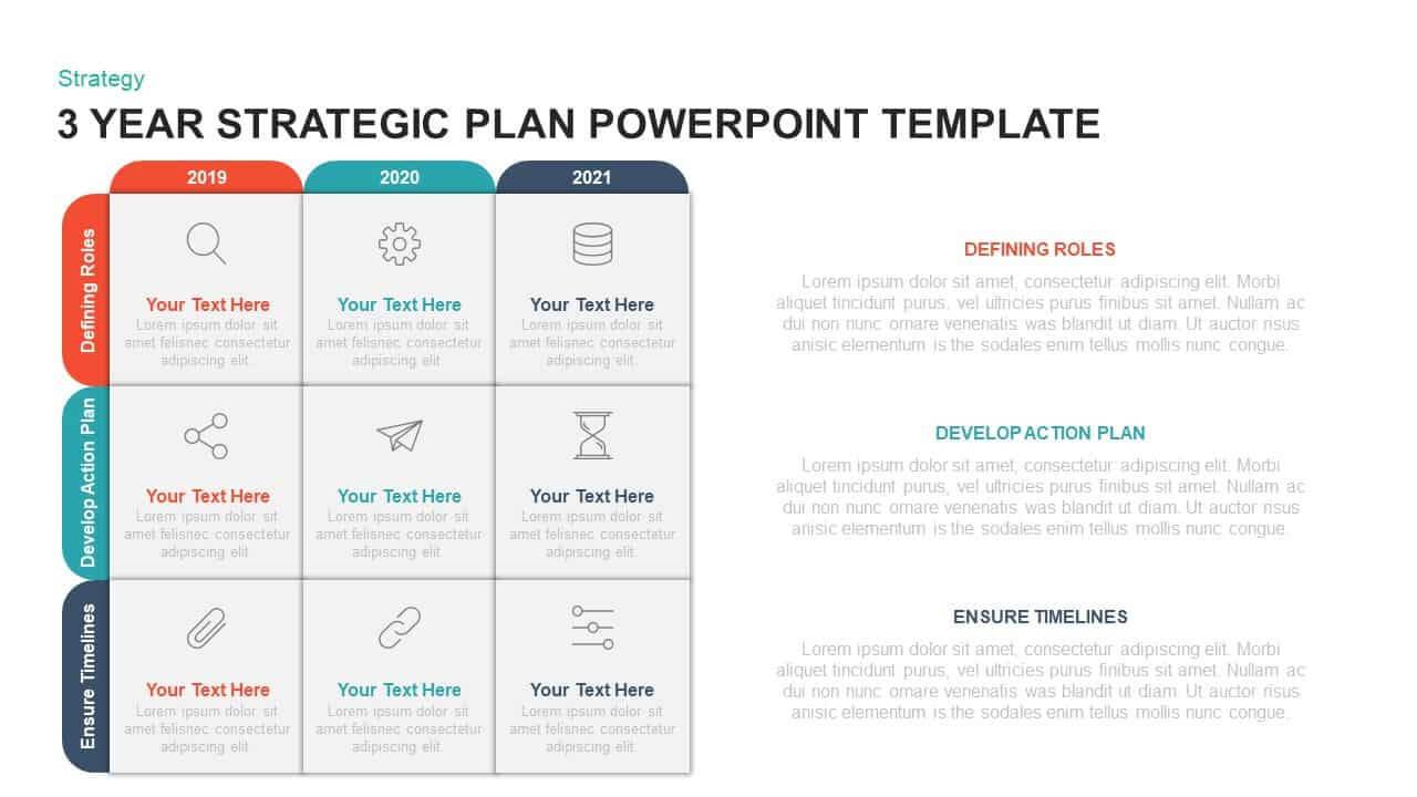 3 Year Strategic Plan Powerpoint Template & Kaynote With Strategy Document Template Powerpoint