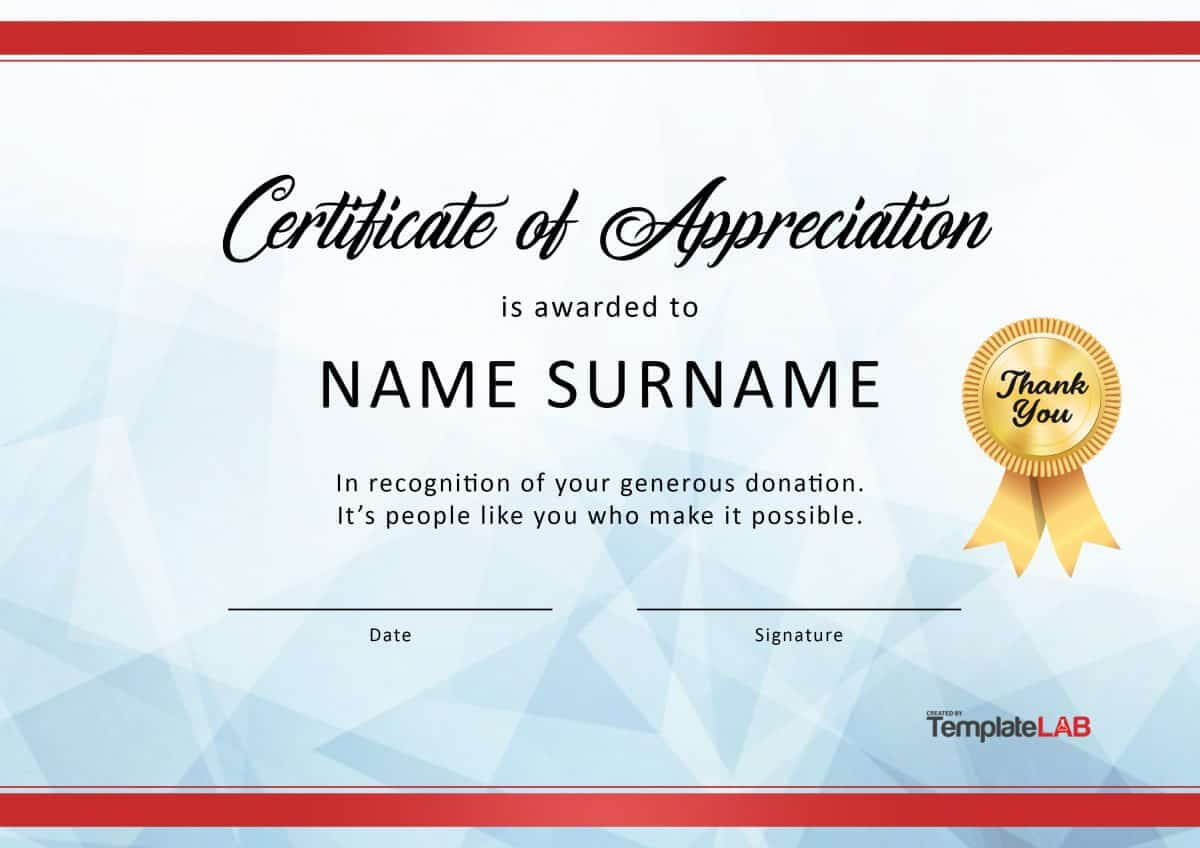 30 Free Certificate Of Appreciation Templates And Letters With Pageant Certificate Template
