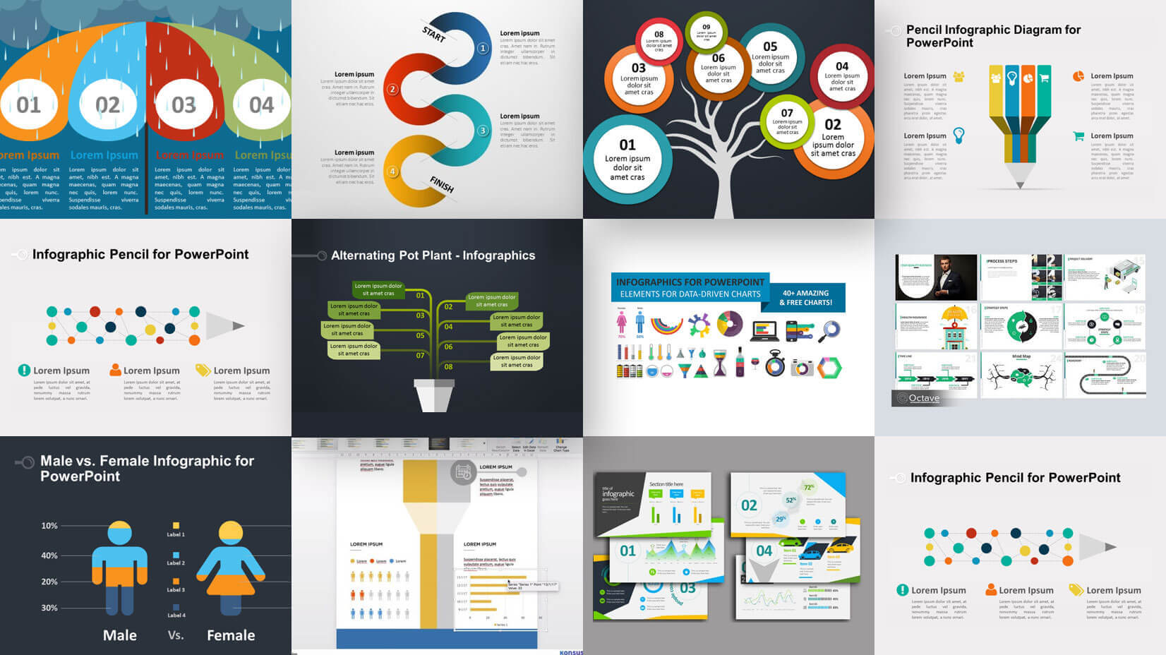 35+ Free Infographic Powerpoint Templates To Power Your With Sample Templates For Powerpoint Presentation