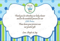 40 Beautiful Baby Shower Thank You Cards Ideas   Baby Shower with regard to Thank You Card Template For Baby Shower