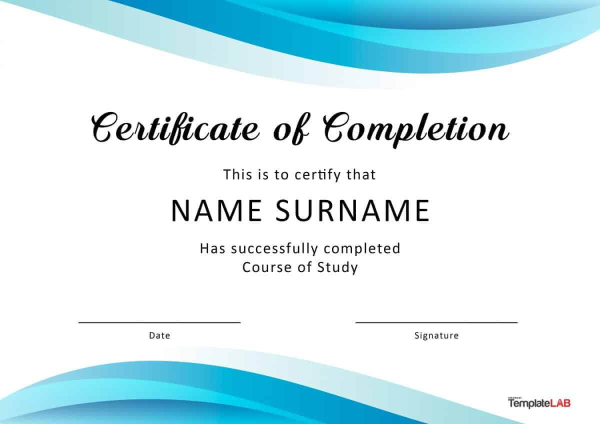 40 Fantastic Certificate Of Completion Templates [Word Pertaining To Certificate Of Participation Template Ppt