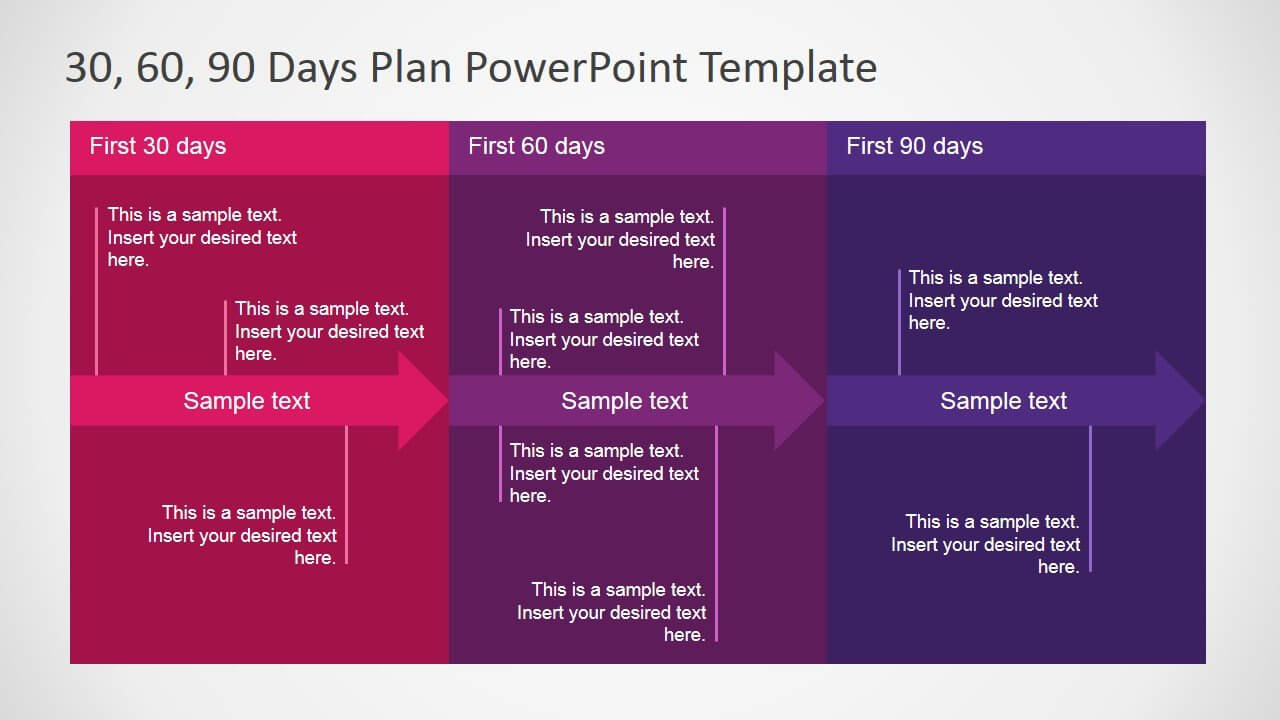 5+ Best 90 Day Plan Templates For Powerpoint For 30 60 90 Day Plan Template Powerpoint