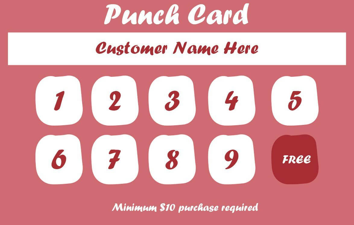 50+ Punch Card Templates - For Every Business (Boost Regarding Business Punch Card Template Free