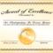 6+ Certificate Award Template – Bookletemplate Throughout Template For Certificate Of Award