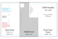 "8.5"" X 14"" Tri Fold Brochure Template - U.s. Press with 6 Sided Brochure Template"