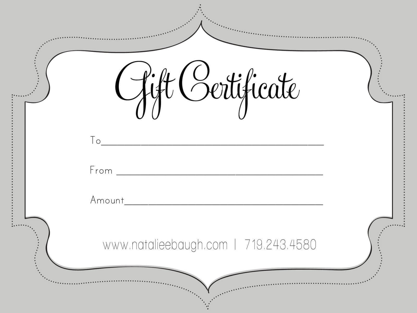 A Cute Looking Gift Certificate   Gift Card Template, Free Intended For Black And White Gift Certificate Template Free