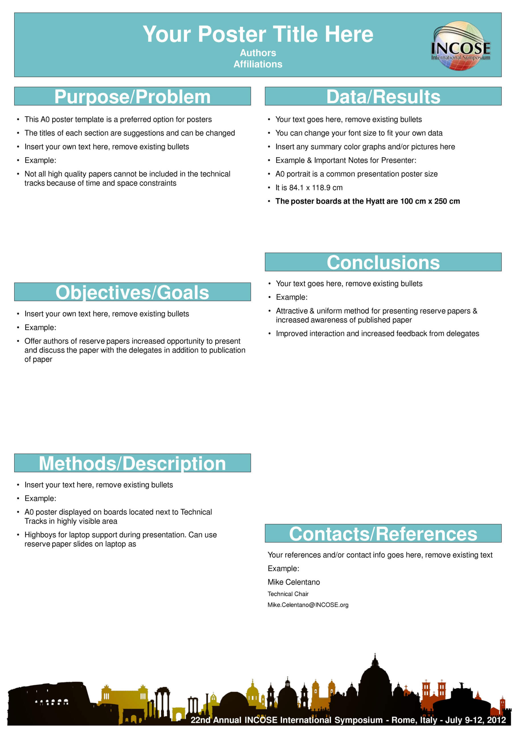 A0 Poster Templates Unique Scientific Poster Template Free Inside Powerpoint Poster Template A0