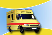 Ambulance Backgrounds For Powerpoint - Health And Medical in Ambulance Powerpoint Template