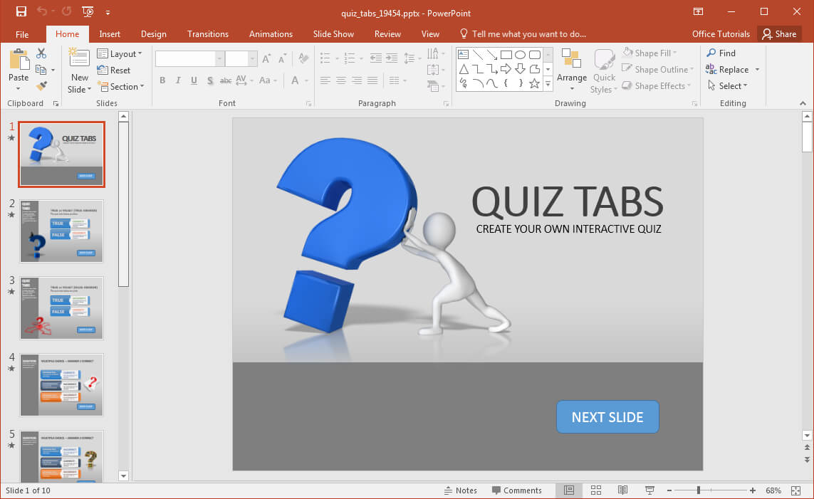 Animated Powerpoint Quiz Template For Conducting Quizzes With Regard To Powerpoint Quiz Template Free Download