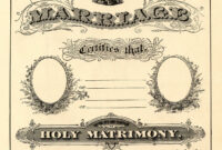 Antique Ephemera Clip Art – Printable Marriage Certificate for Blank Marriage Certificate Template