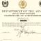 Army Certificate Of Completion Template | Certificate Of pertaining to Army Certificate Of Completion Template