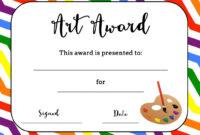 Art Award Certificate (Free Printable)   Art Certificate in Free Art Certificate Templates