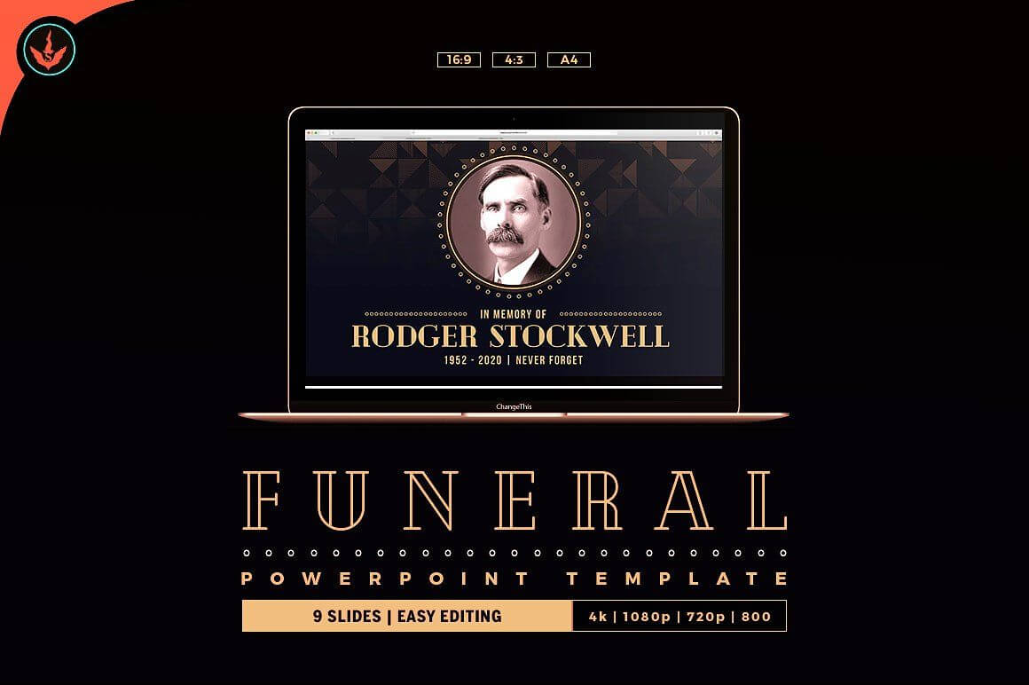Art Deco Funeral Powerpoint Template #place#ways#today With Funeral Powerpoint Templates