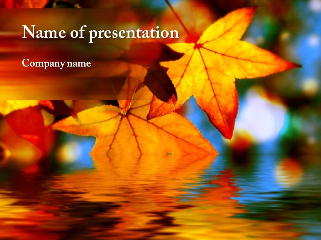 Autumn Powerpoint Template   Powerpoint Presentation With Regard To Free Fall Powerpoint Templates