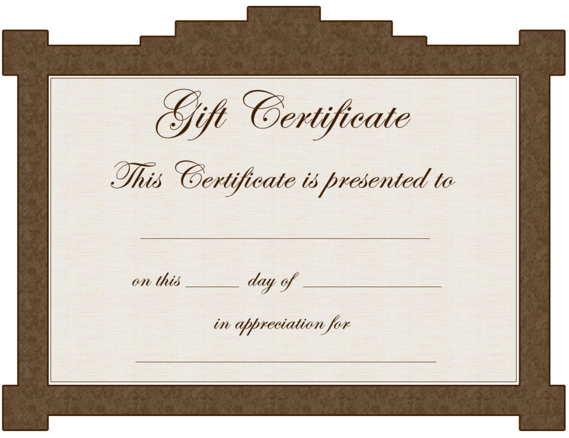 Avon Gift Certificate Template – Clip Art Library Intended For Tattoo Gift Certificate Template