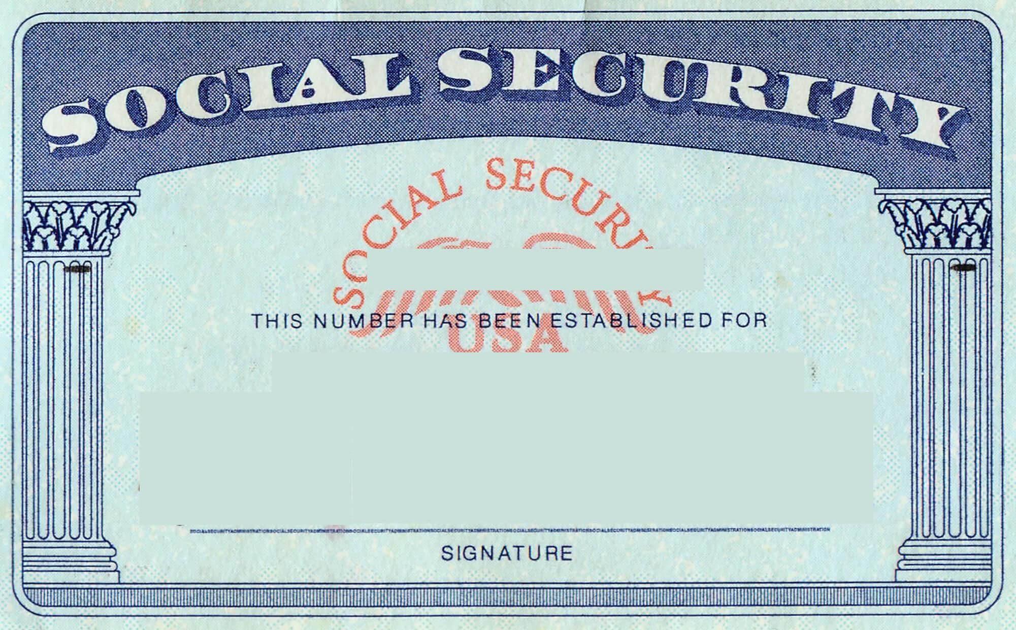Blank Social Security Card Template   Social Security Card Inside Ssn Card Template