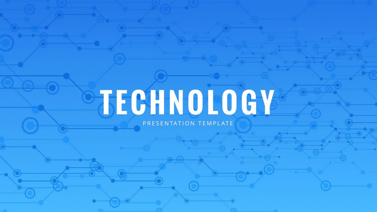 Blue Tech Free Powerpoint Template - Powerpointify In Powerpoint Templates For Technology Presentations