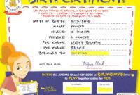 Build-A-Bear Birth Certificate | Birth Certificate Template regarding Build A Bear Birth Certificate Template
