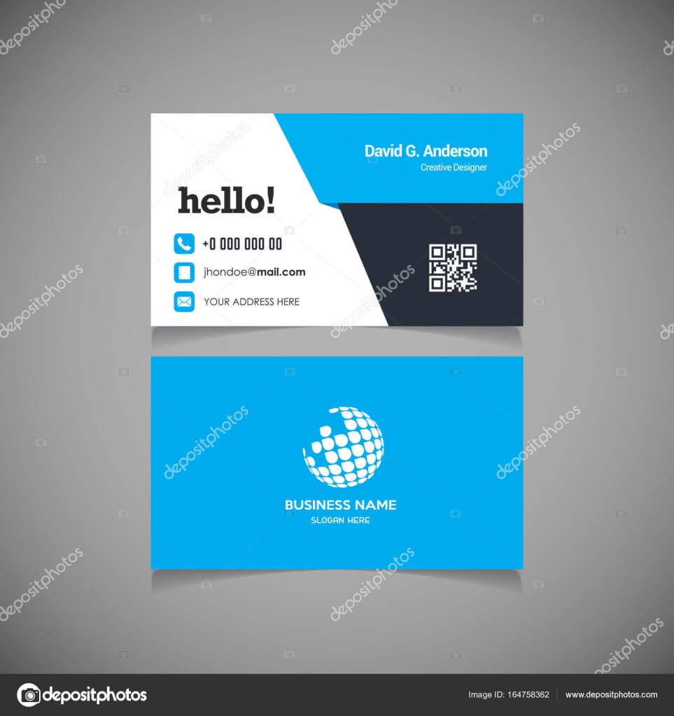 Business Card With Qr Code Template   Business Card Template Throughout Qr Code Business Card Template