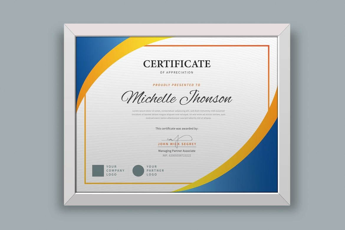 Certificate / Diploma Template Ai, Psd. Download | Templates Throughout No Certificate Templates Could Be Found