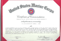 Certificate Of Appreciation Usmc – Yatay.horizonconsulting.co in Officer Promotion Certificate Template