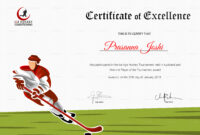 Certificate Of Hockey Performance Template inside Hockey Certificate Templates