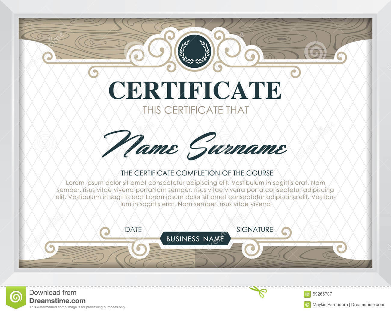 Certificate Stock Vector. Illustration Of Antique, Award In Qualification Certificate Template