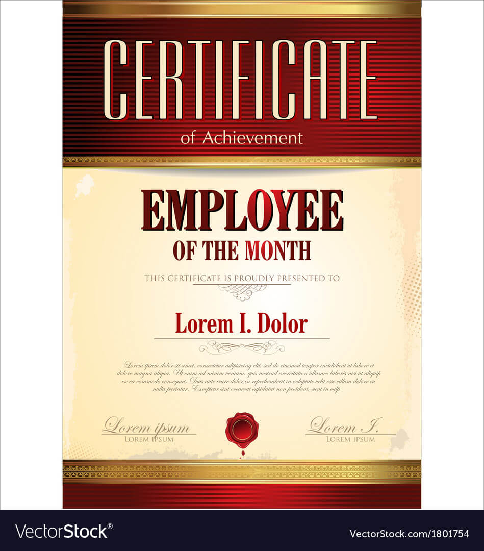 Certificate Template Employee Of The Month Within Employee Of The Month Certificate Template With Picture