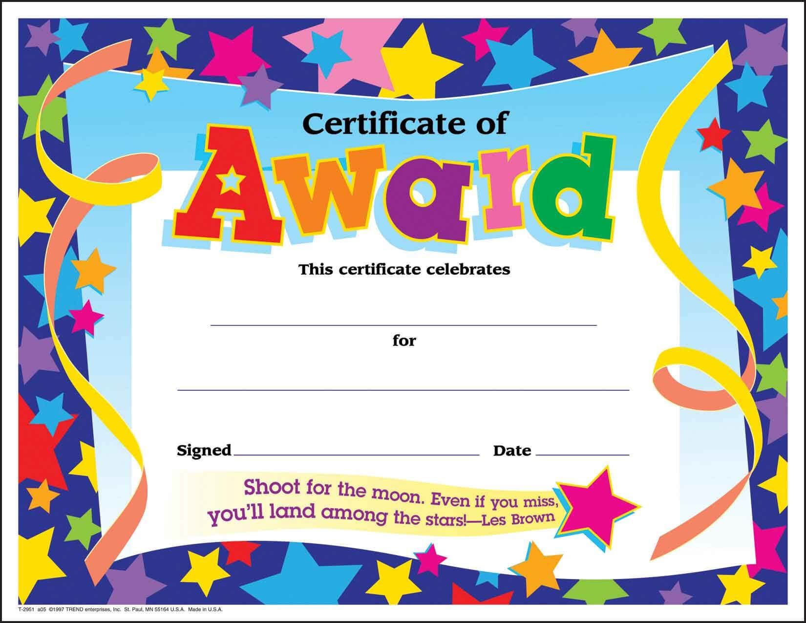 Certificate Template For Kids Free Certificate Templates Pertaining To Free Printable Funny Certificate Templates
