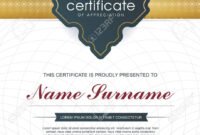 Certificate Template With Clean And Modern Pattern,luxury  Golden,qualification.. within Qualification Certificate Template