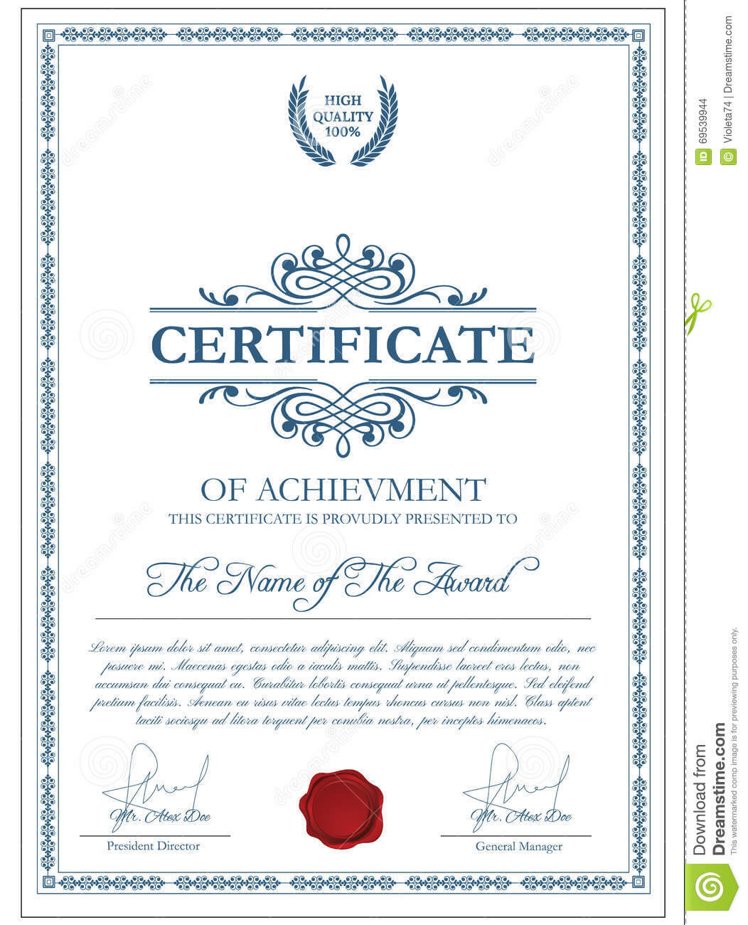 Certificate Template With Guilloche Elements. Stock Vector Intended For Validation Certificate Template