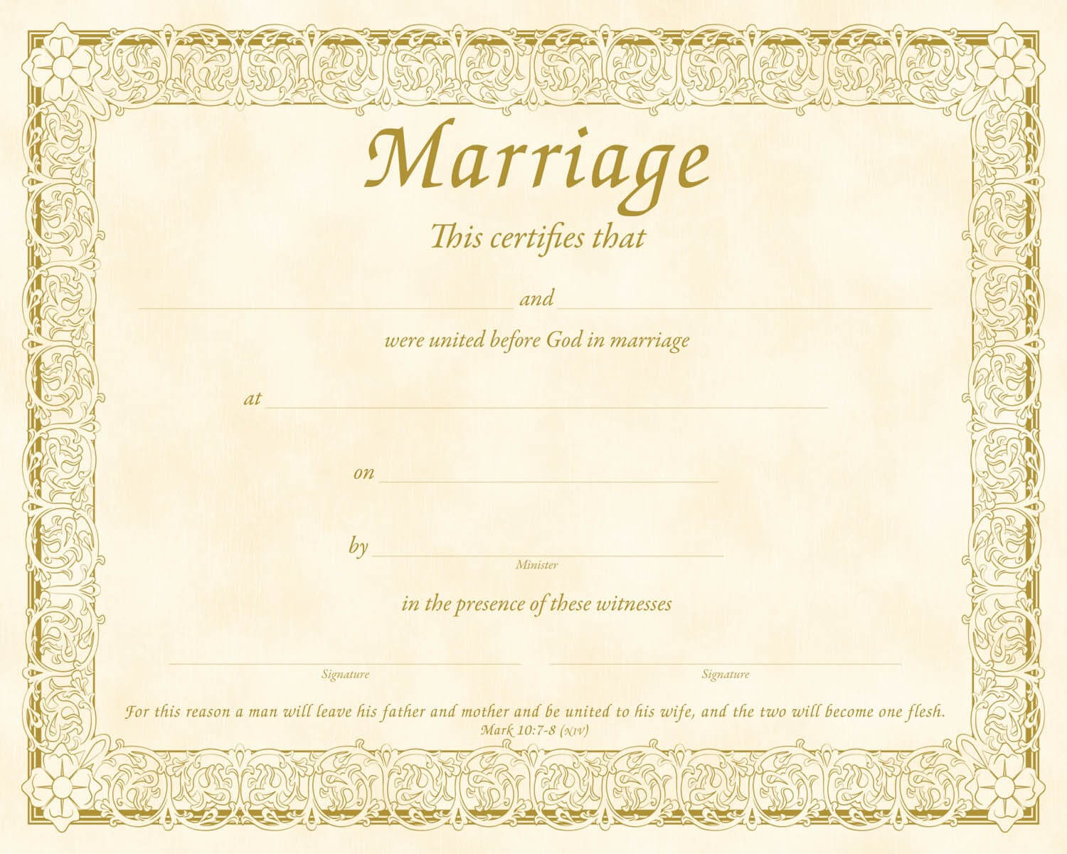 Christian Certificate Template ] - Christian Marriage Within Christian Certificate Template