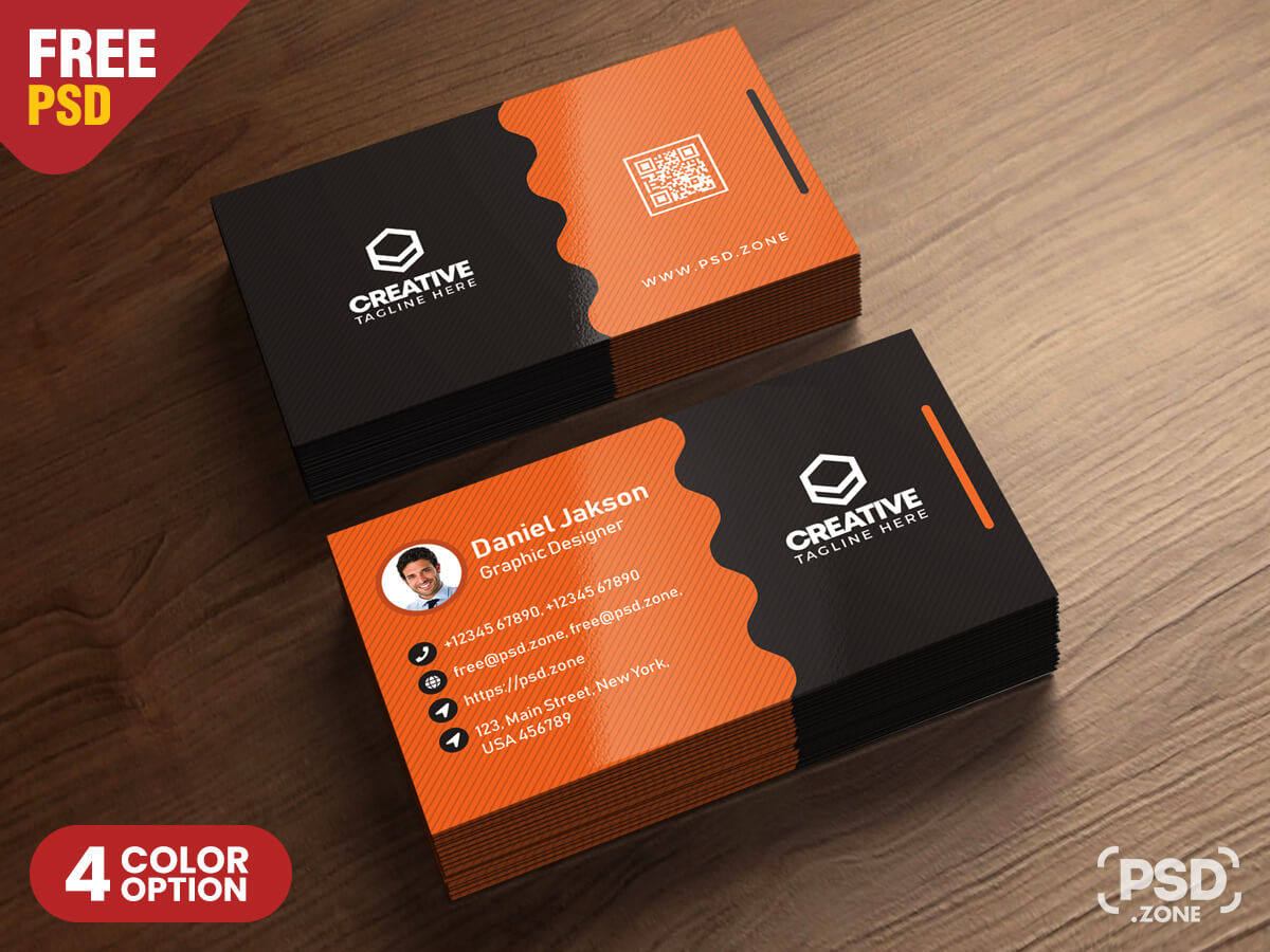 Clean Business Card Psd Templates - Psd Zone Inside Template Name Card Psd