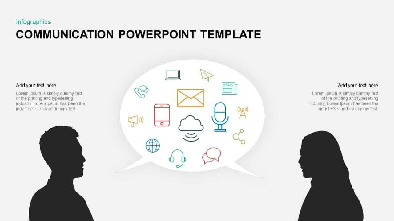 Communication Powerpoint Template & Keynote Diagram Within Powerpoint Templates For Communication Presentation