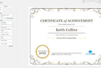 Create A Certificate Of Recognition In Microsoft Word with Promotion Certificate Template