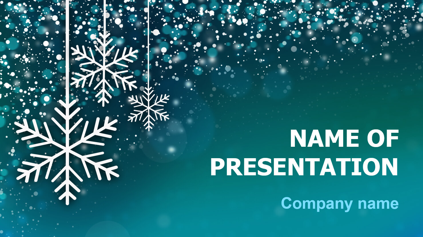 Download Free Snowing Snow Powerpoint Theme For Presentation Intended For Snow Powerpoint Template