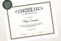 Editable Certificate Template, Blank Business Certificate With Regard To Update Certificates That Use Certificate Templates