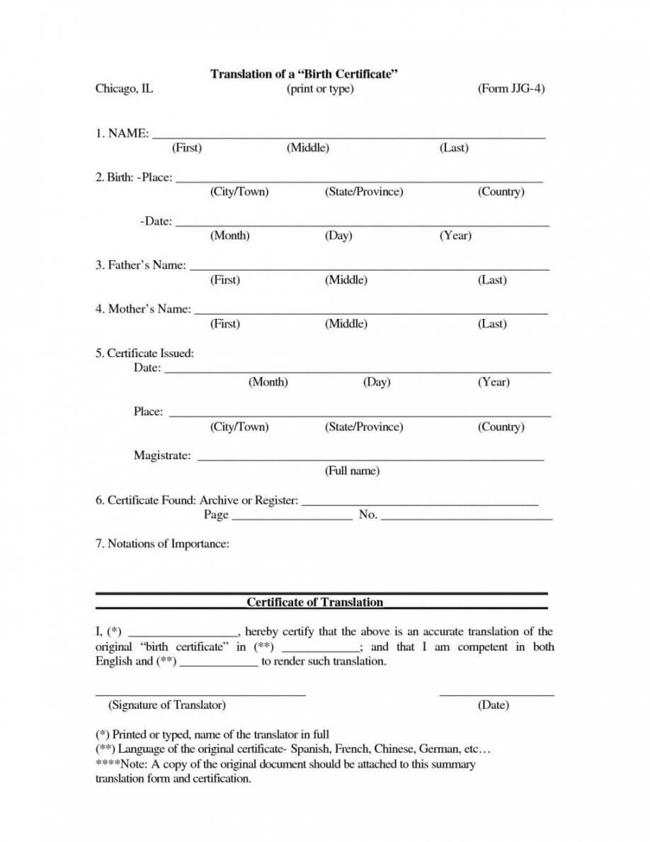 Editable Death Certificate Translation Template Spanish To Pertaining To Death Certificate Translation Template