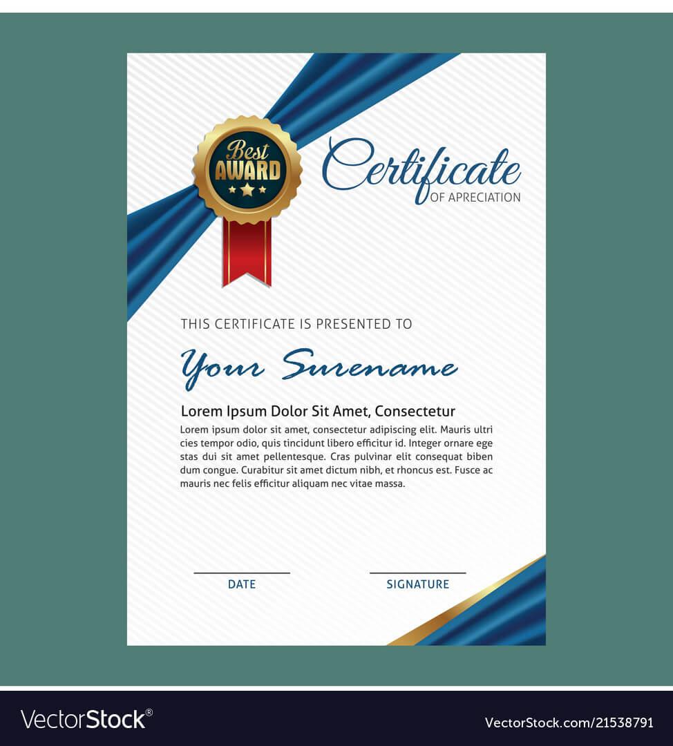 Elegant Certificate Template For Elegant Certificate Templates Free